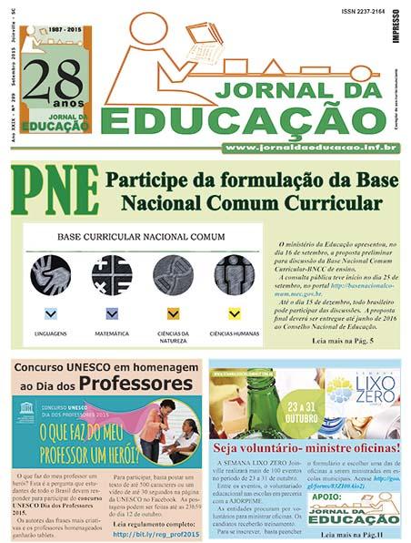 Jornal da Educação 289 - Setembro 2015