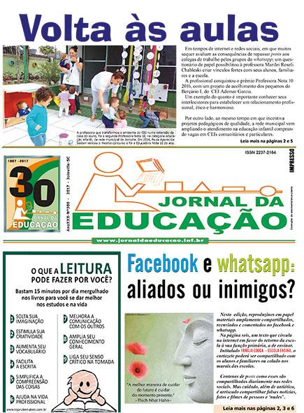 Jornal da Educação - Volta às aulas